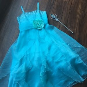 Cinderella-Like Dress & Wand